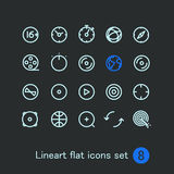 Different modern media web application icons Stock Photography