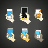 Different modern mobile gadgets Royalty Free Stock Photography