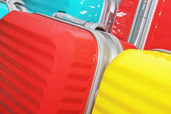 Different modern suitcases in the shop Royalty Free Stock Photography