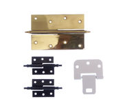 Different modern and vintage hinges Stock Photo