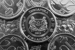 Different money from Singapore Royalty Free Stock Photos