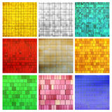 Different mosaic types Stock Photos