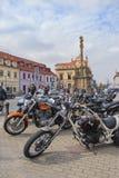 Different motorbikes on square, Podebrady stock photos