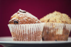 Different muffins with apples Royalty Free Stock Image