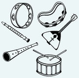 Different music instruments Royalty Free Stock Photography