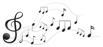 Different musical notes royalty free illustration