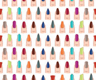 Different nails shape seamless  pattern Stock Photography