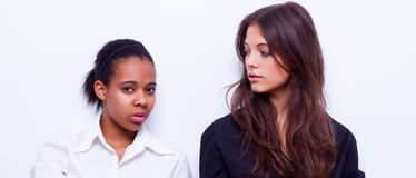 Different nationalities teenage girls Royalty Free Stock Photography