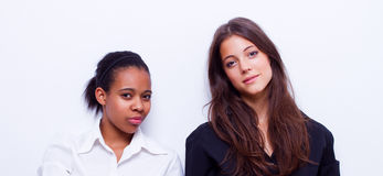 Different nationalities teenage girls Stock Photo