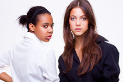 Different nationalities teenage girls Stock Images