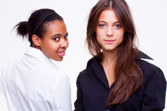 Different nationalities teenage girls Royalty Free Stock Photo