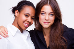 Different nationalities teenage girls Stock Image