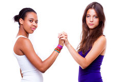 Different nationalities teenage girls Stock Photography