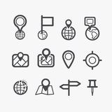 Different navigation icons set Stock Photo