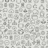 Different network app icons vector pattern Stock Illustration