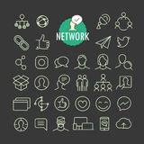 Different network icons vector collection Stock Photos