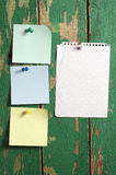 Different note paper Royalty Free Stock Photography