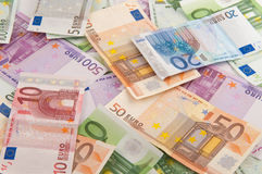Different notes of euro Stock Images