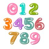 Different number set. Vector illustration flat design Stock Photos