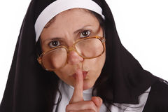 Different nun. A different nun with funny expression Royalty Free Stock Image