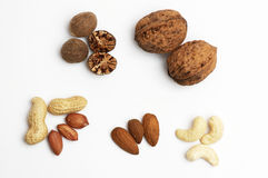 Different nuts Royalty Free Stock Images