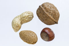 Different nuts Stock Photo