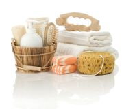 Different objects for bathing Royalty Free Stock Photography