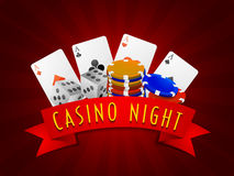 Different objects for Casino. Royalty Free Stock Image
