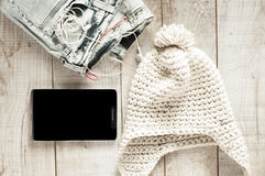 Different objects fot modern young person. Stock Photo