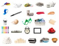 Different objects set isolated on white background stock photo