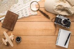 Different objects for traveling Stock Photography
