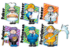 Different occupations Royalty Free Stock Photo