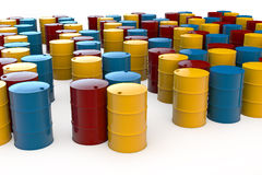 Different oil barrels Royalty Free Stock Photo