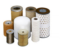 Different oil filters for the fine purification of motor oils Royalty Free Stock Images