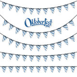 different Oktoberfest garlands Royalty Free Stock Photography