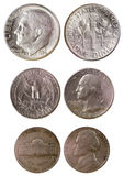 Different old american coins Royalty Free Stock Photo