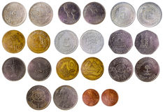 Different old arab coins Royalty Free Stock Images