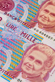 Different old banknotes from Italy Stock Images