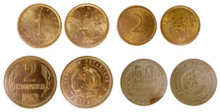 Different old bulgarian coins Stock Image