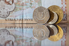 Different old money of Cyprus Royalty Free Stock Images
