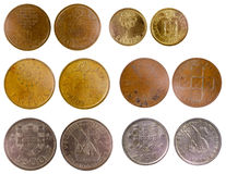 Different old portuguese coins Royalty Free Stock Image