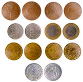 Different old turkish coins Royalty Free Stock Photo