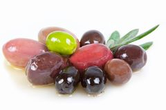 Different olives Royalty Free Stock Image