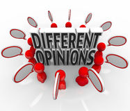 Different Opinions Speech Bubbles People Arguing Dispute Stock Images
