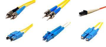 Different optical connectors. Stock Images