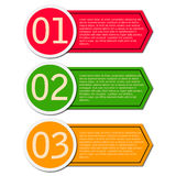 Different option labels Royalty Free Stock Photography