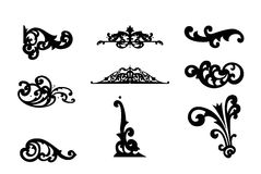 Different ornamental elements. Vector set Royalty Free Stock Photo