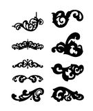 Different ornamental elements. Vector set Stock Photo