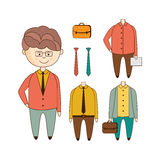 Different Outfits Construction Set Royalty Free Stock Photo