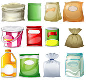 Different packs and containers Royalty Free Stock Images